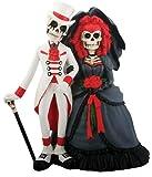 Skeleton Dod Gothic Wedding Couple Figurine Decoration Collectible