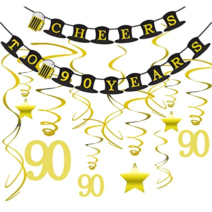 90th BIRTHDAY PARTY DECORATIONS KIT