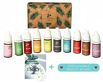 Amazon.com: 10 color Skin Safe Food Grade Soap Bath Bomb Slime Dye ...