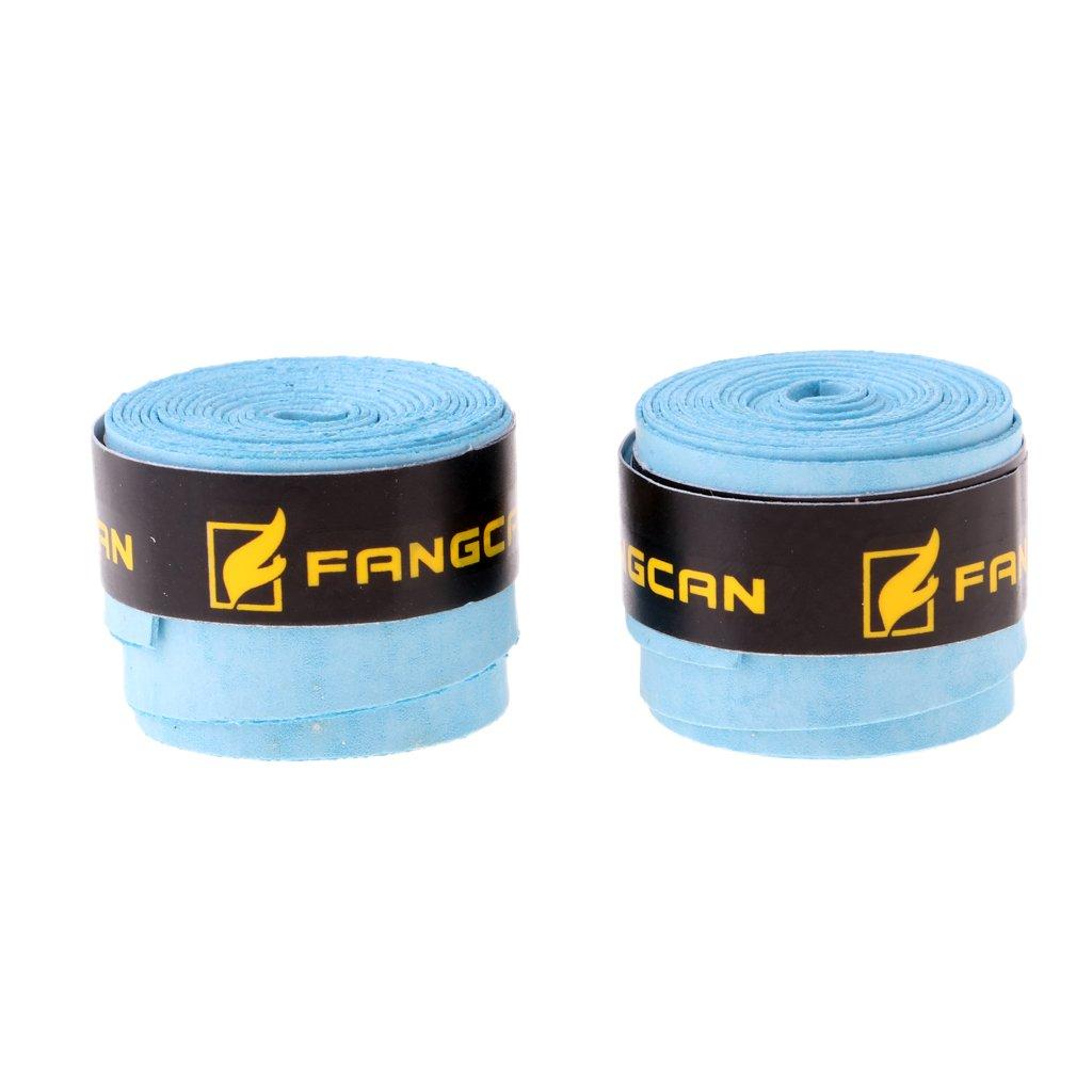 NON Sharplace 2 Piezas de Sobregrip Racket Overgrip Antideslizante Tenis Bádminton Raqueta Grip Hecho de PU Tamaño 110 x 2.8 x 0.08cm - Azul non-brand