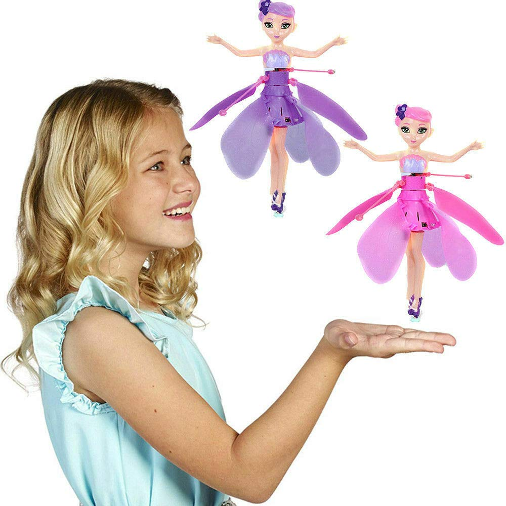 HJHTPD Flying Fairy Doll Girl Infrared Sensor Control Remote Control Child Toy Kids Toys Teen Toys Flying Princess Doll Blue