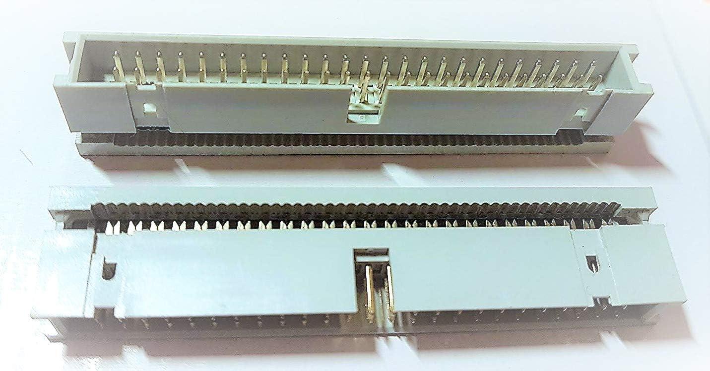 50 Piece pinheader Pin Bar Bushes Connectors Grid 2,54mm Row 4 Pole