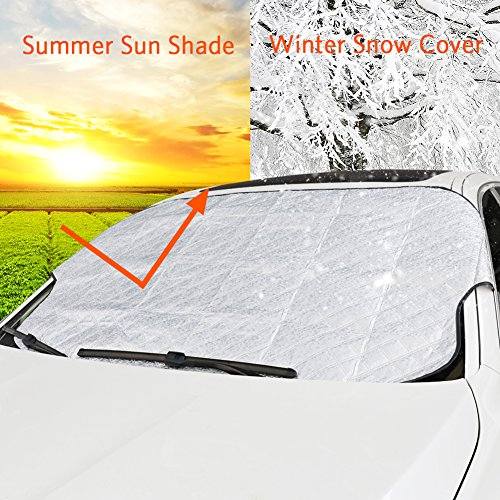 Ltd 4350433357 Shenzhen ZOTO Technology Co X 39 Inch H 57 Inch W Car Front Windscreen Ice Protector,Non Scratch Durable Frost Cover for Vehicle,Morning Time Saver Dust /& Sun Shade Protector Fits Most Cars ZOTO Windshield Snow Cover