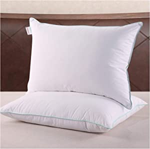 Homelike Moment King Feather Pillows for Sleeping 2 Pack Feather Down Bed Pillow King Size Pillows Set of 2 20x36 Inch