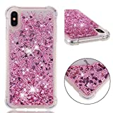 iPhone Xs Max Case, ZERMU Shockproof Clear Colorful Heart Pattern Waterfall Fushion Moving Liquid...