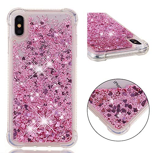 iPhone Xs Max Case, Dooge [Liquid Series] Luxury Bling Floating Sparkle Glitter Quicksand Shockproof Anti Scratch Girls Women Protective Bumper Case for Apple iPhone Xs Max 6.5 inch (Green Lifeproof Iphone 4 Case)