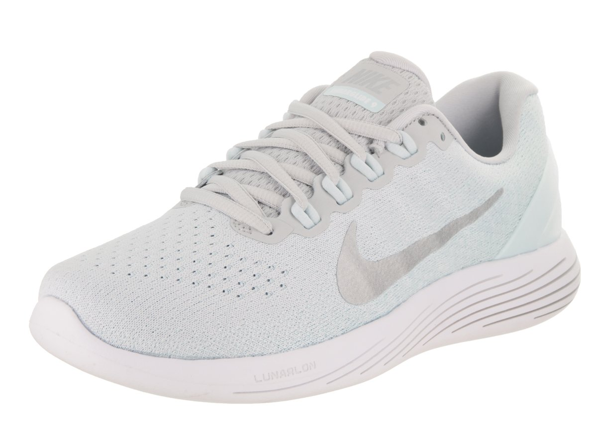NIKE Women's Lunarglide 9 Running Shoe B06X6H6Y2G 7 B(M) US|Pure Platinum/Chrome