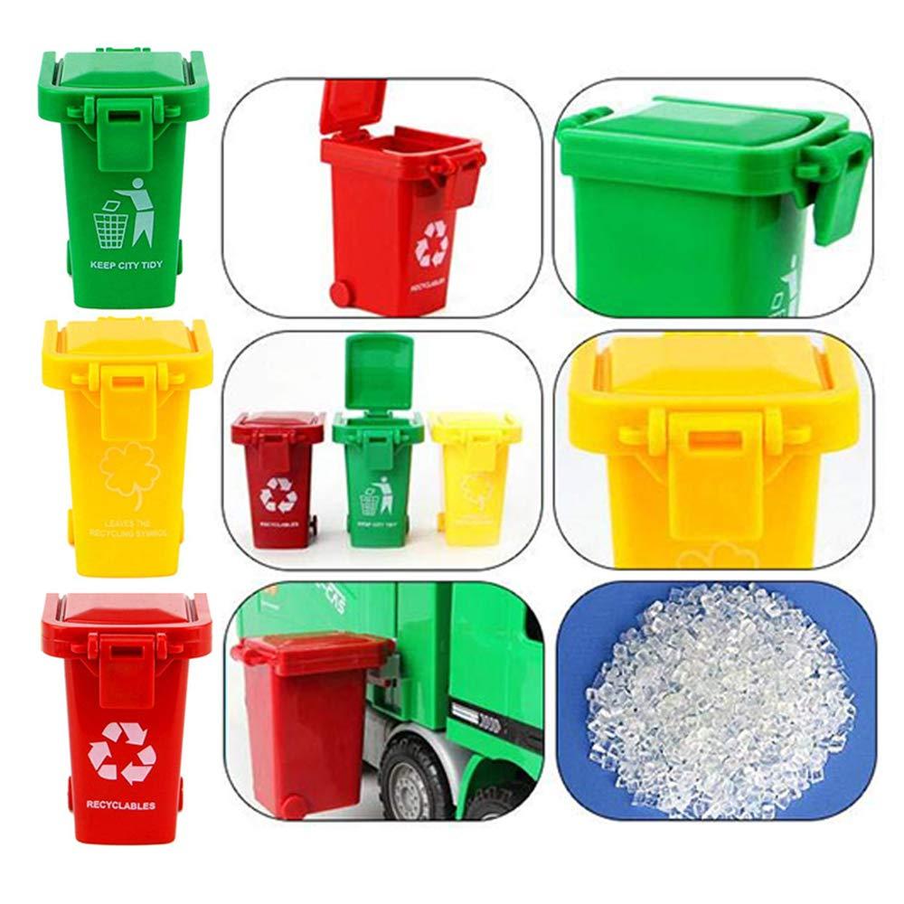 Wankd Mini M/üllcontainer 3er Set Farbmischung Mini-M/ülltonne original Miniatur Beh/älter Aufbewahrung Tischm/ülleimer Stiftehalter B/üro Spielzeug Sammlerst/ück