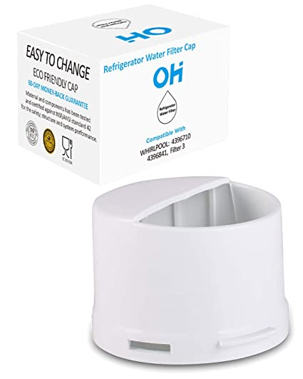 Refrigerator Water Filter Cap Aftermarket Replacement For Whirlpool 2260518b And 2260502 Fits Kenmore Kitchenaid Refrigerator Wp2260518w Black White