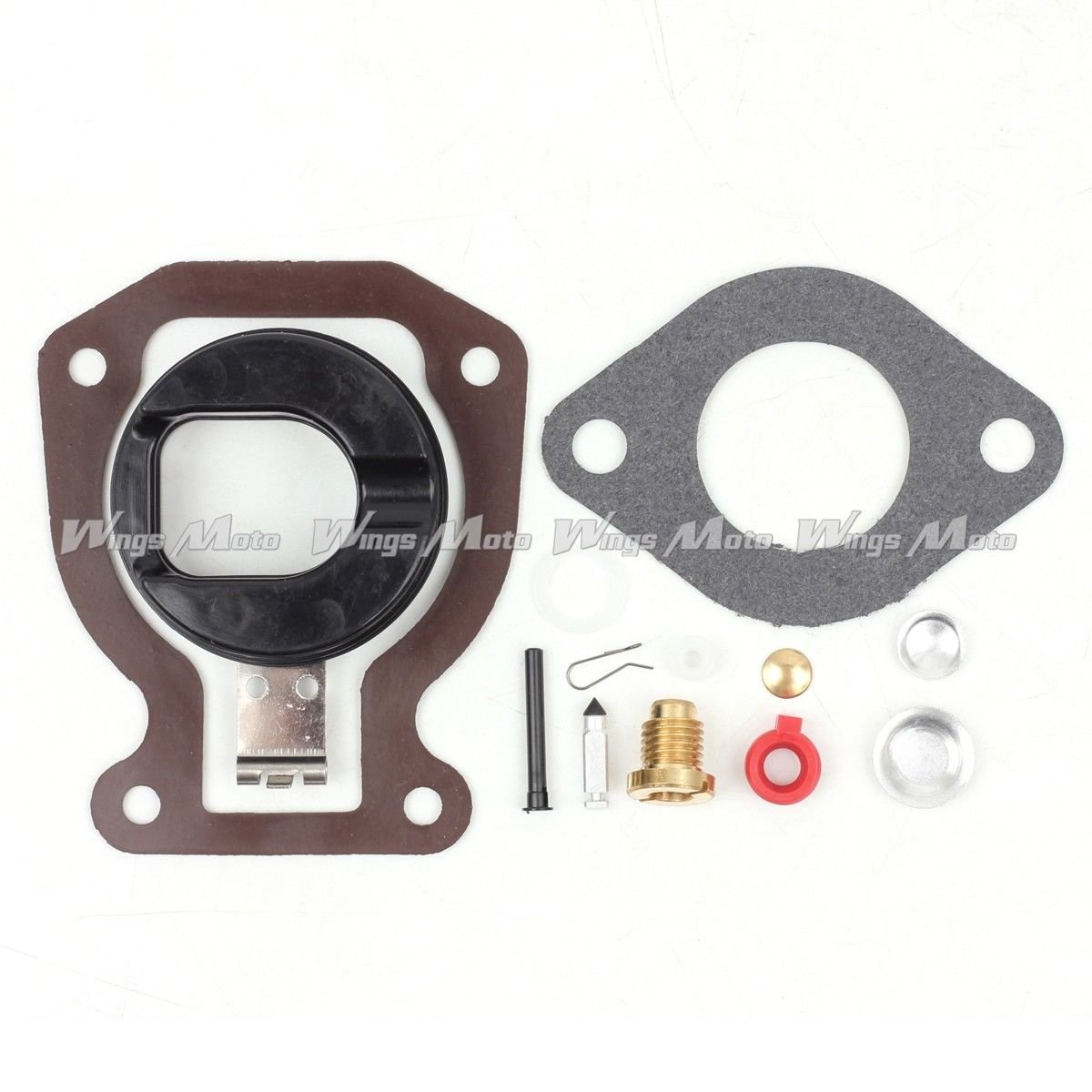 Wingsmoto Carb Repair Carburetor Rebuild Kit w/Float for Johnson Evinrude 4 4.5 5 6 7.5 9.9 15 398453 439072