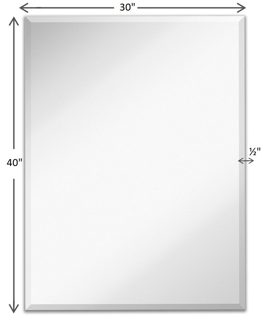 Light In The Dark Rectangle Wall Mirror With Beveled Edge