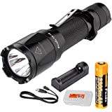 Fenix TK16 1000 Lumen Tactical LED Flashlight /w Instant Strobe, Fenix 18650 Rechargeable Battery and a Charger