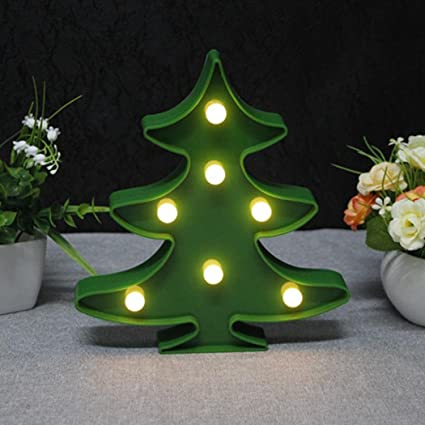 hindom 3d green christmas tree light mini led christmas animal plant warm light colorful decorative light