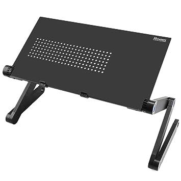 Homdox 360 grado portátil soporte para portátil cama mesa soporte de ordenador portátil con ratón Junta: Amazon.es: Electrónica