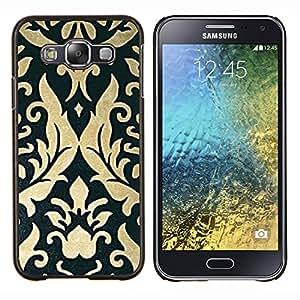 LECELL--Funda protectora / Cubierta / Piel For Samsung Galaxy E5 E500 -- Arte Pergamino Papel pintado de la vendimia --