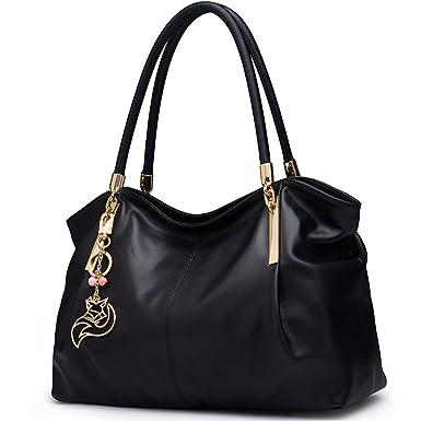 Amazon.com  FOXER Women Genuine Leather Handbag Tote Purse Top Handle  Satchel Shoulder Bag  Clothing 3cb92ec5db9b6