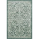 Maples Rugs Area Rugs - Pelham 5' x 7' Non Slip Large Rug [Made in USA] for Living Room, Bedroom, and Dining Room, Light Spa