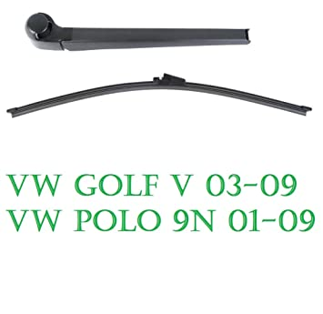 Aero Disco de limpiaparabrisas trasero golf v 5 Polo 9N: Amazon.es ...
