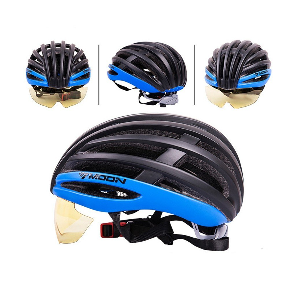 LOLIVEVE Fahrrad Reithelm Abnehmbare Mountainbike Road Helm Komfortable Einstellbar