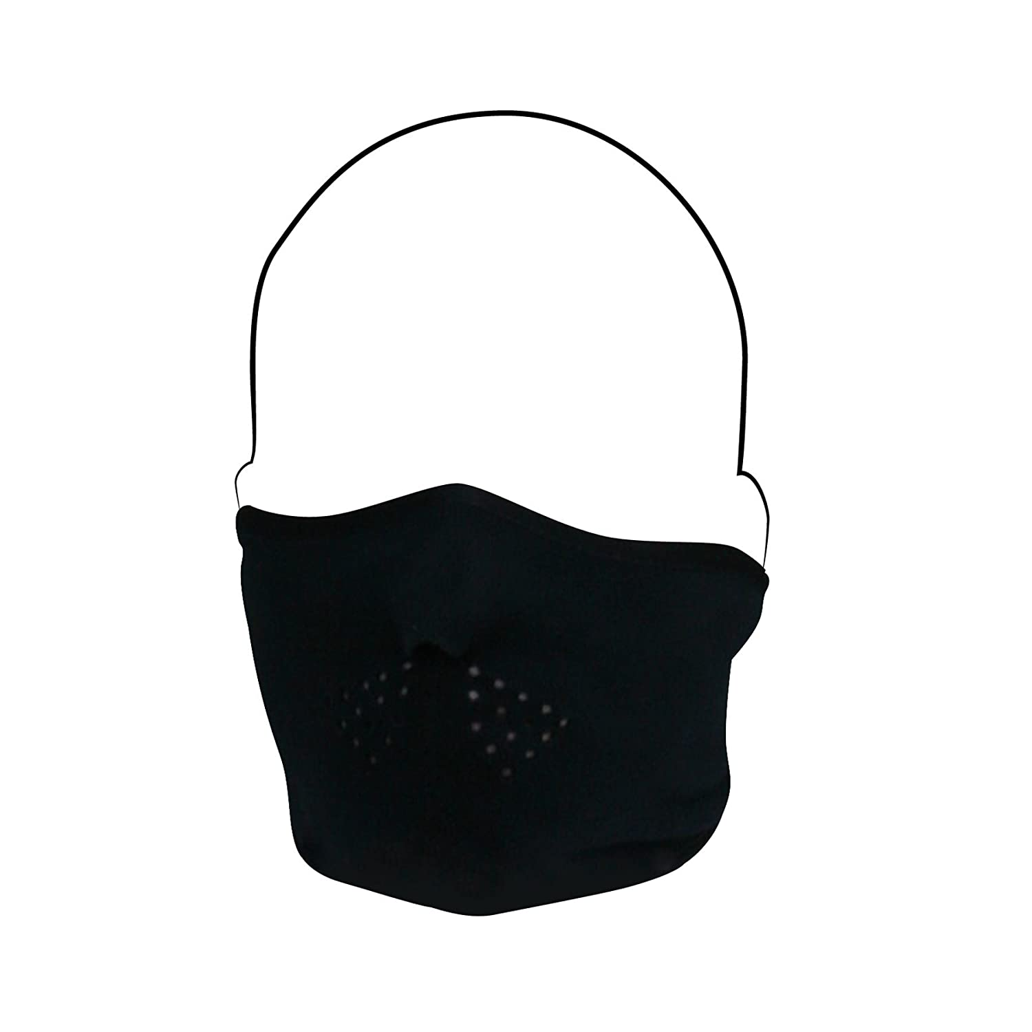ZANheadgear Microfleece Full Face Mask with Mesh Mouth Black WFMF114