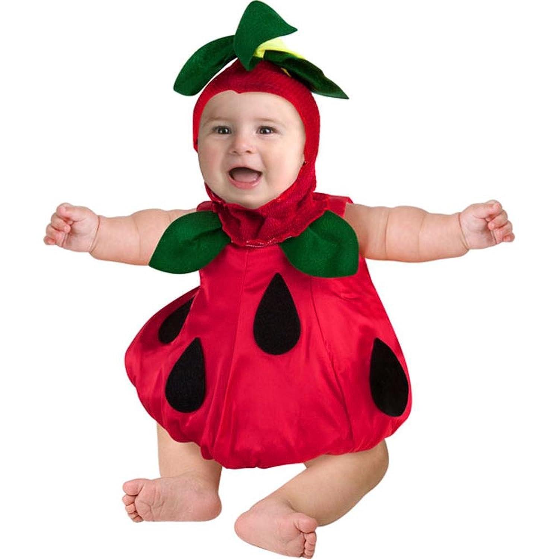 amazoncom infant baby strawberry fruit costume 6 12 months clothing - Strawberry Halloween Costume Baby