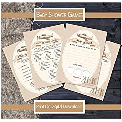 Baby Shower Games, Boarding Pass Ticket, Plane Ticket, Printable Invitation, Travel Invitation