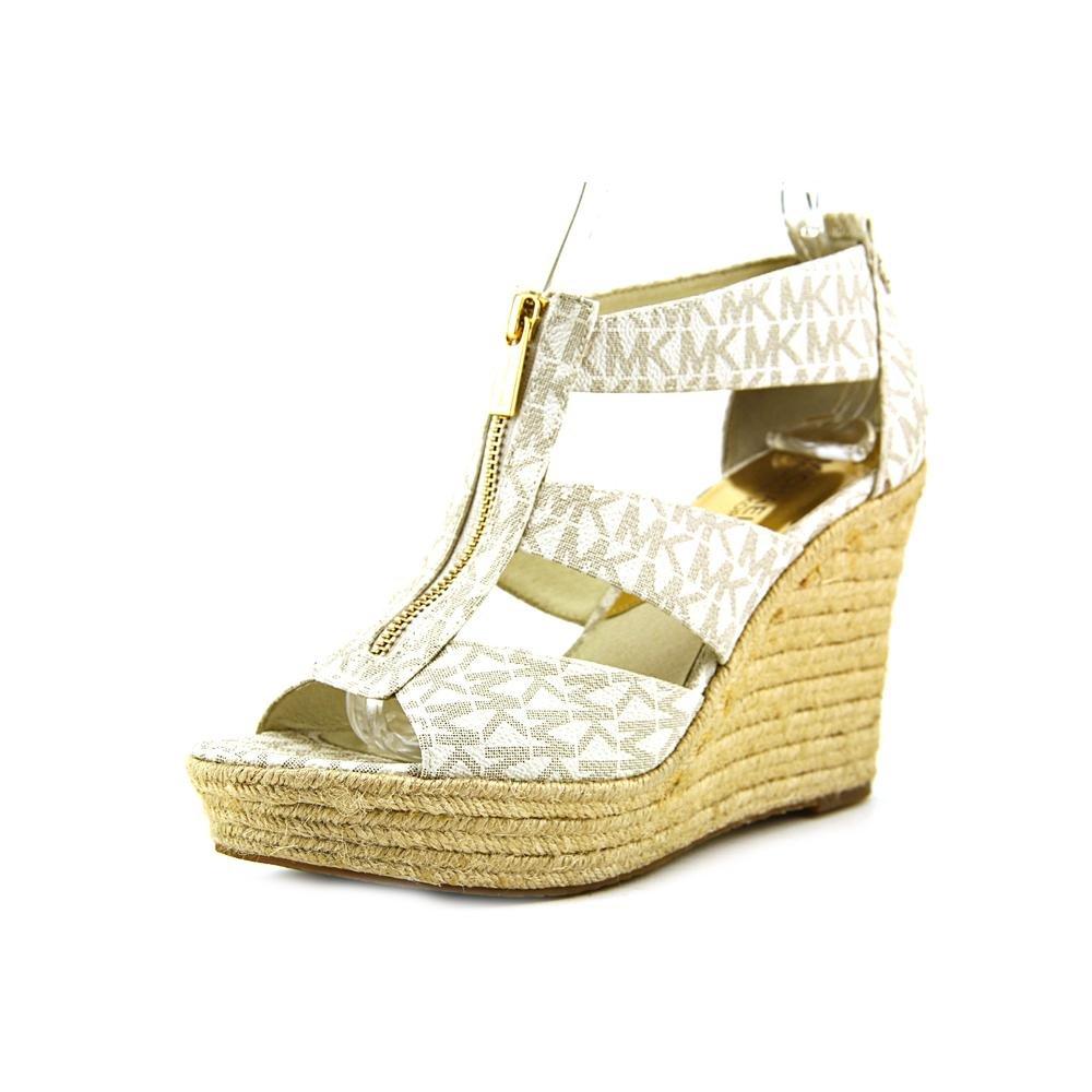MICHAEL Michael Kors Women's Damita Wedge Vanilla Mini MK SIG PVC 1 Wedge