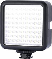 Bestlight 64 LED 5500K-6500K LED Vídeo Luz Regulable Universal Multi-Bombilla con Diseño del Esclavamiento Splicing para Macrofotografía, Boda, Rueda de Prensa Fotografía