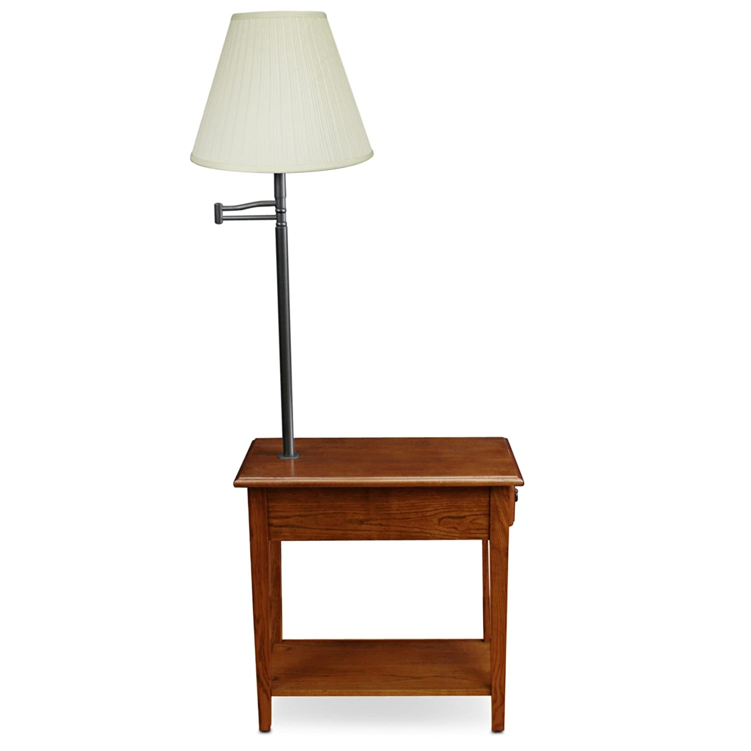 Amazon leick furniture chairside lamp table medium oak amazon leick furniture chairside lamp table medium oak kitchen dining geotapseo Images