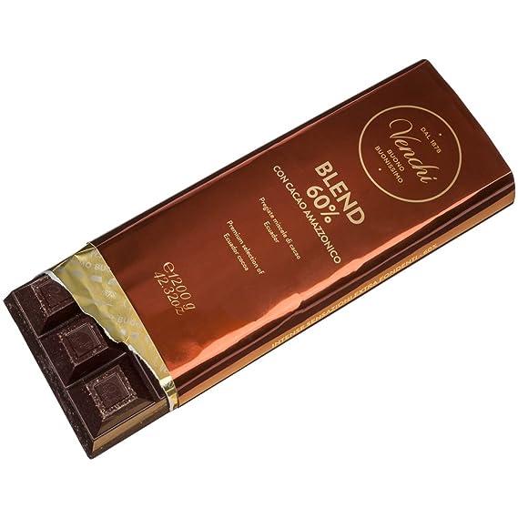 Venchi Mezcla extra oscura 60% de chocolate amazónico 1200 g