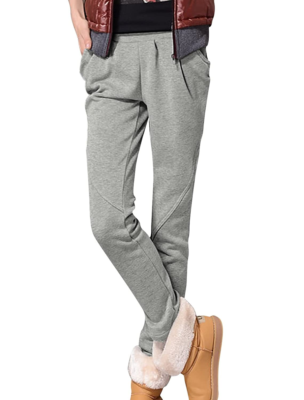 Women Fashion Elastic Waist Slant Pockets Ruched Detail Pants