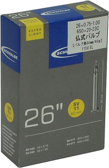 Schwable Tube Intérieur 650 C extra light 60 mm Valve
