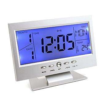 RanDal Reloj De Mesa Digital Snooze Calendario Temperatura Alarma ...
