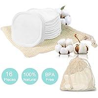 16 Waschbare Wattepads Wiederverwendbar | Abschminkpads| Abschminktücher aus Bambus & Baumwolle mit Wäschebeutel | Umweltfreundlich | Makeup Entferner Pads | Gesichtsreinigung | Go Green
