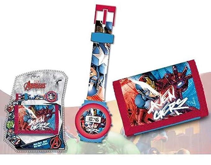 Reloj niño Avengers Iron Man Hulk Capitán América Marvel Comics Plus Cartera: Amazon.es: Relojes