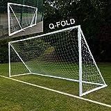 QuickPlay Q-Fold | The 30 Second Folding Soccer Goal for Backyard [Single Goal] (16x7')