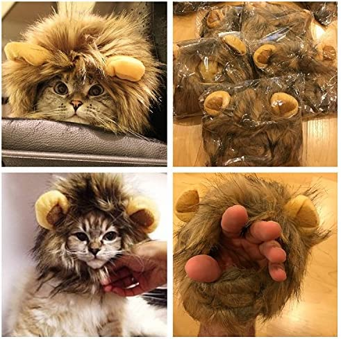 OMG Adorables Lion Mane Costume for Cat 21