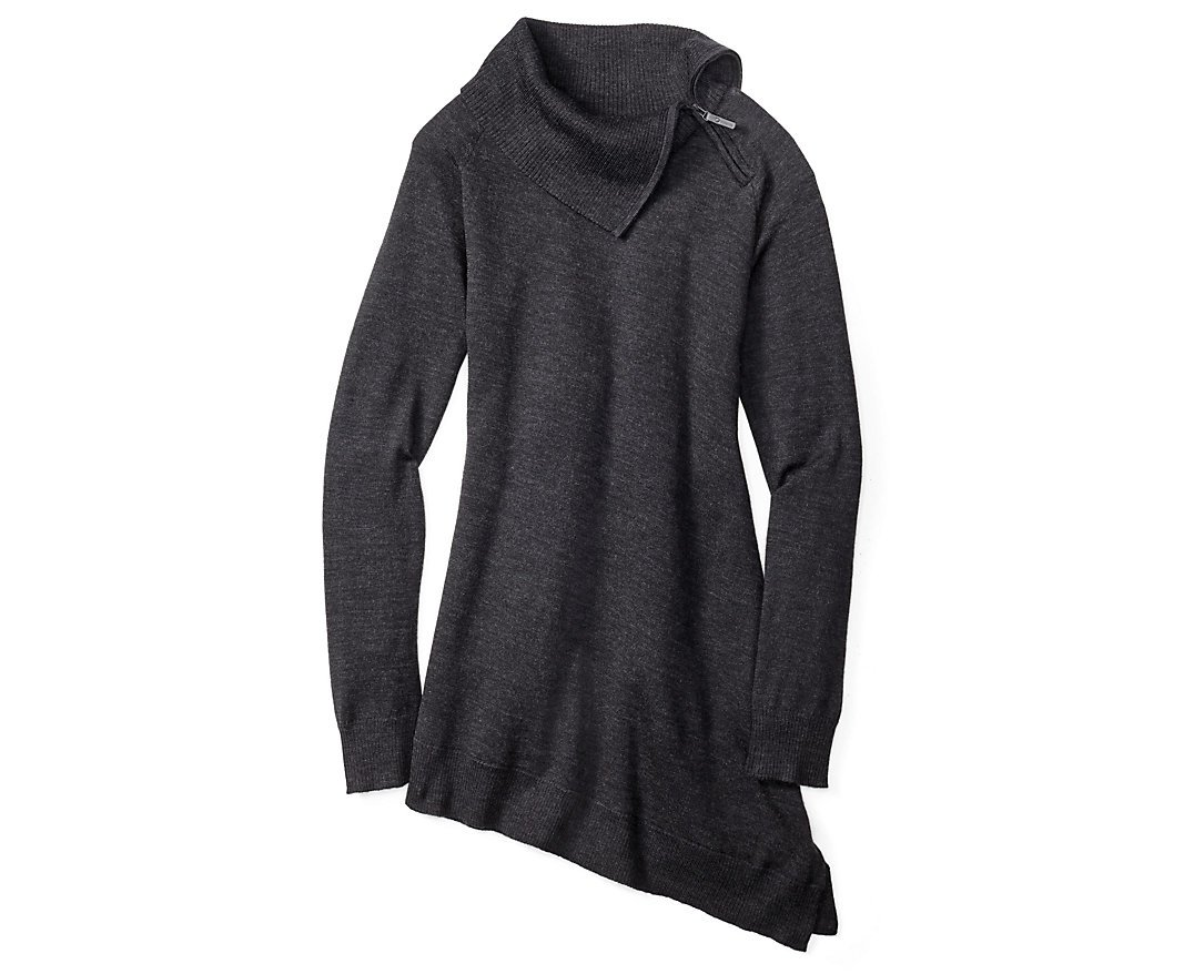 Smartwool Women's Cascade Valley Asymmetric Tunic (Charcoal Heather) X-Large by SmartWool