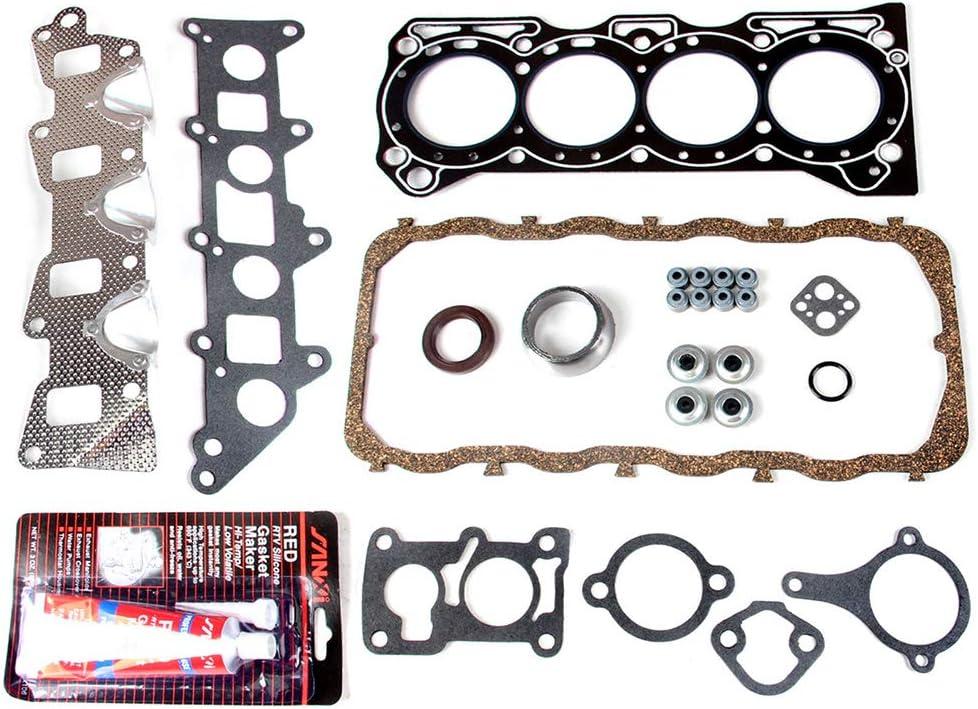 LSAILON Auto Parts HS9117PT Engine Kits Head Gasket Sets Compatible with 1986-1995 Suzuki