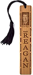 product image for President Ronald Reagan Photo with Signature - Engraved Wooden Bookmark with Tassel - Also Available Personalized