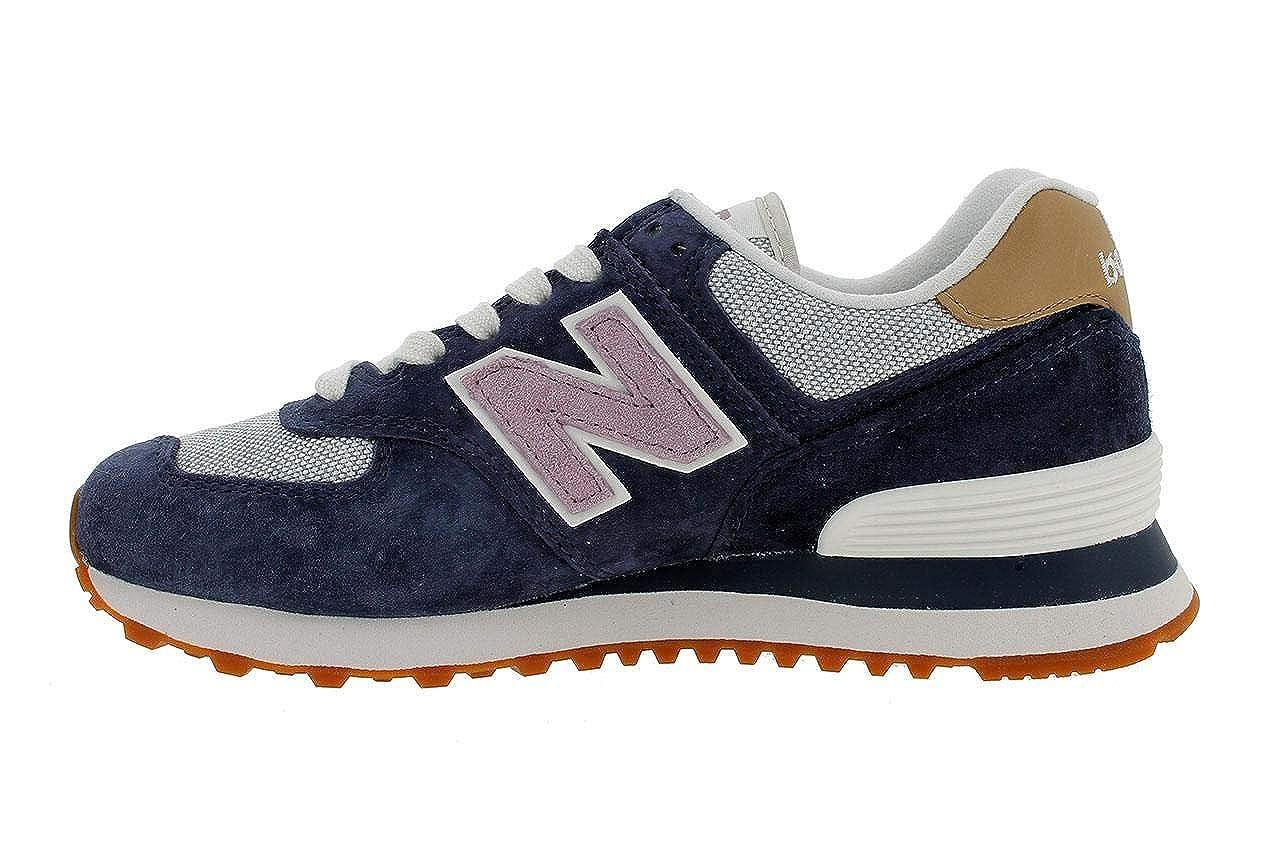 a1ea926fff8 New Balance New Balance-WL 574 NVC Cuero Mujer  Amazon.es  Zapatos y  complementos
