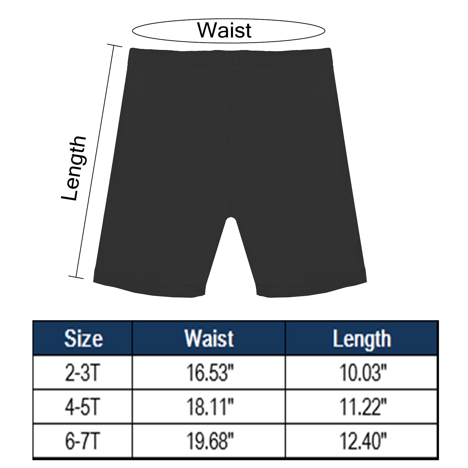 FreeNFond Girls Dance Shorts for Sports Play Or Under Skirts Pack of 6