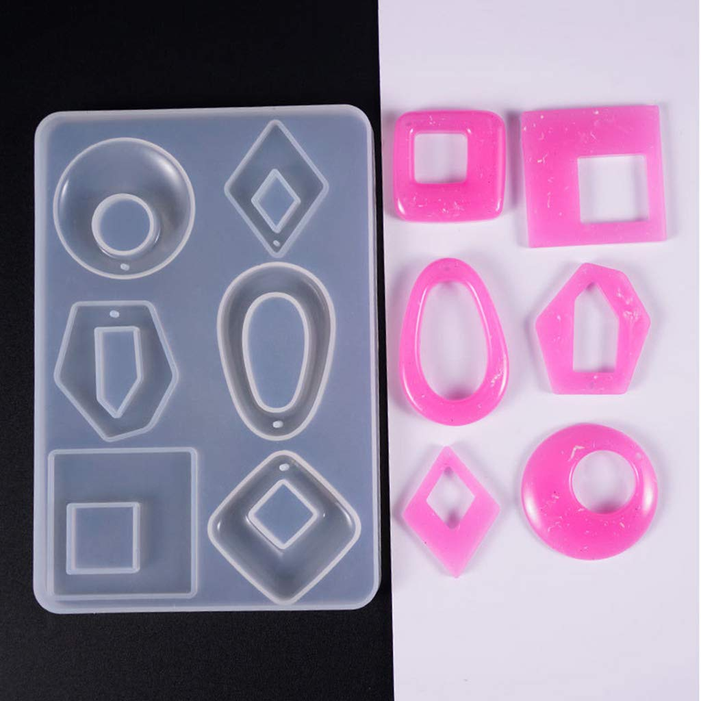 Yajiun R/ésine Moules en Silicone Moule Fabrication De Bijoux