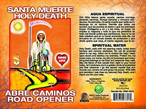 Spiritual Water Holy Death/road Opener 16ozAGUA ESP MUERTE/ABRE CMNO 16oz