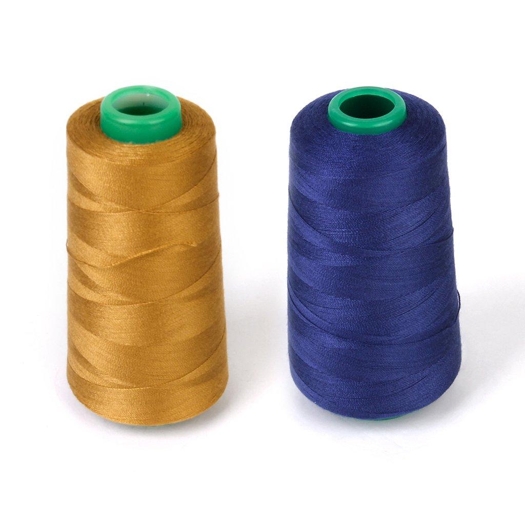 Bobina de hilo para coser Jeans de poliéster para le máquinas de coser 20s/2 Marino Azul: Amazon.es: Hogar