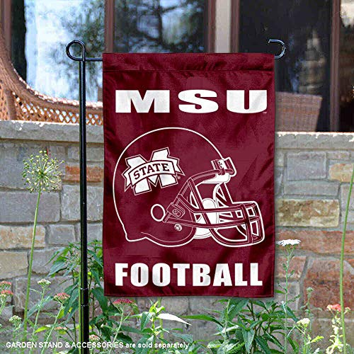 College Flags and Banners Co. Mississippi State Bulldogs Football Helmet Garden Flag ()