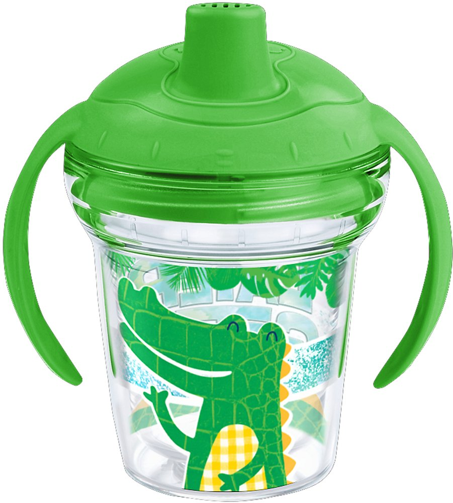 Tervis 1227223 Later Gator Tumbler with Wrap and Rainforest Green Lid 6oz My First Tervis Sippy Cup, Clear 1239694