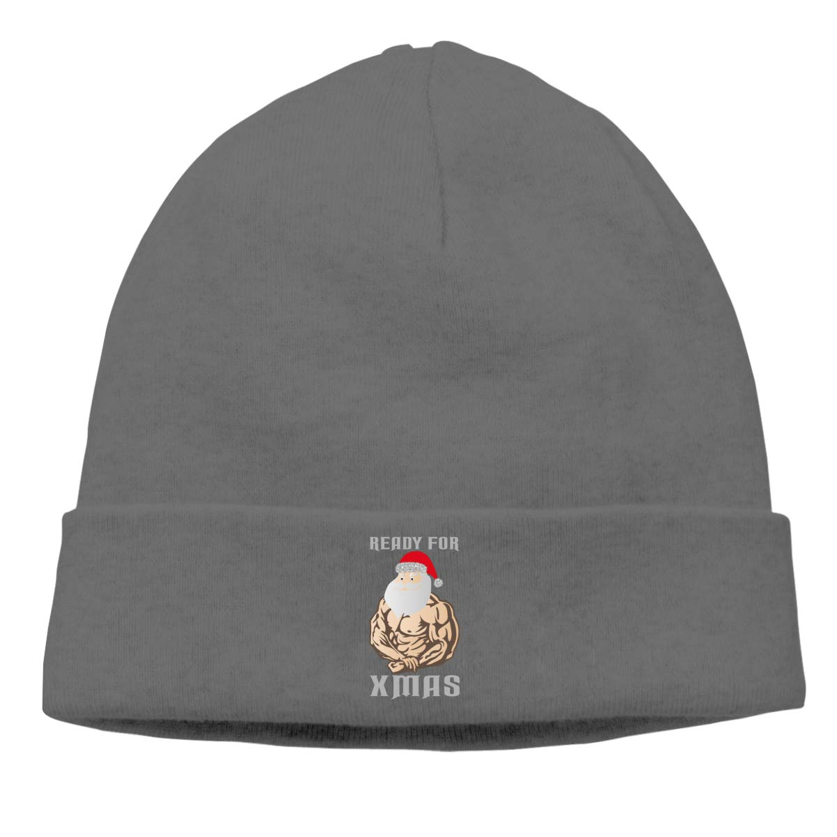 Riokk az Ready for Xmas Beanie Hat Skull for Mens Deep Heather