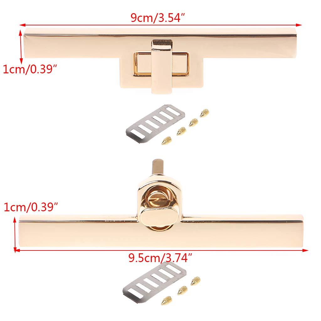 Aawsome Cerradura de metal con cierre giratorio para hacer bolsos de mano 1