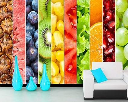 Xzcwwh Fruits Healthy Food 3d Wallpaper Living Room Tv Wall